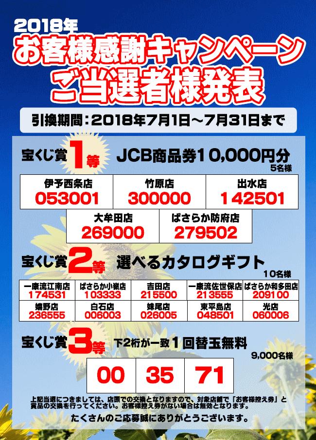 2018年お客様感謝キャンペーン」...